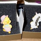 FREE SHIPPING Yellow Chick with Egg Basket EASTER pin jewelry by AVON