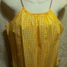 FREE SHIPPING Tommy Jeans Gingham Halter Top yellow juniors XL