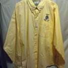 FREE SHIPPING DUNLOP CREDIT UNION button down front LS dress shirt new NWT Munsingwear Mens XL