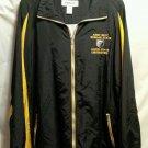 FREE SHIPPING ARMY ROTC JACKET windbreaker MORGAN COPPIN STATE Universities 2xl black yellow