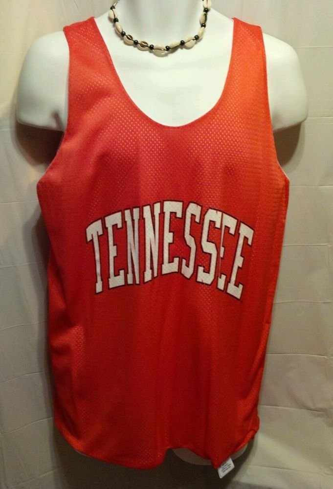 FREE SHIPPING UT Tennessee Basketball Jersey reversible orange white practice mens Medium M