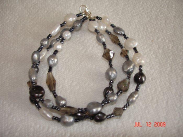 Faux pearl multistrand bracelet