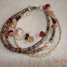 Swarovski multistrand bracelet