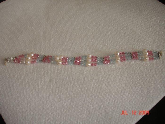 Swarovski triple strand bracelet