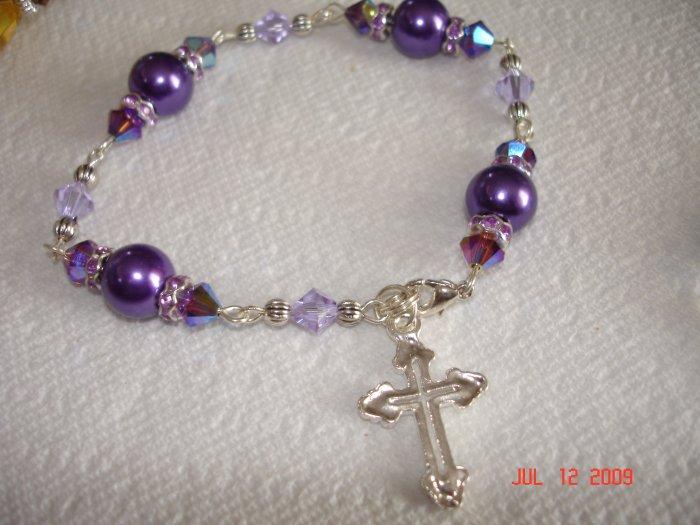 Gorgeous Swarovski rosary bracelet