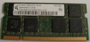 Used Notebook 1GB Memory SODIMM (Free Shipping)