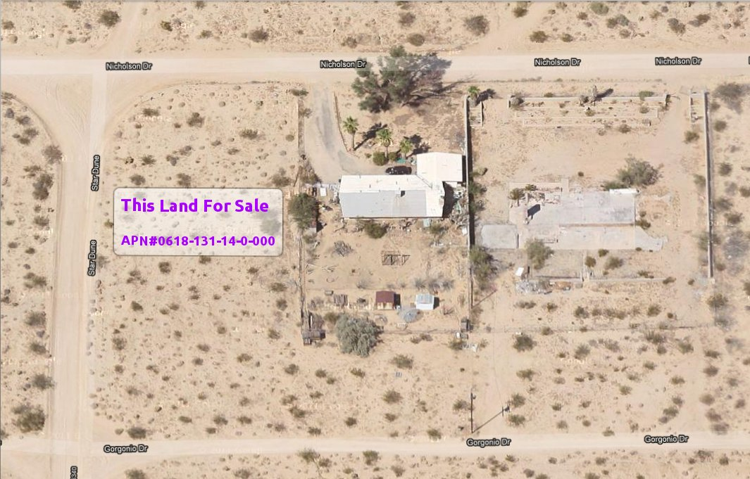 A Residential Corner Lot (95' x 160', Twentynine Palms, CA)