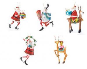 Holdiay Ornaments *Santa, Rudolph & Snowman*