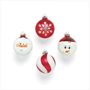 NEW! Christmas Glass Ornaments