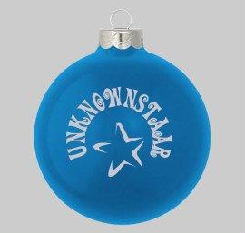 Blue tree ornaments