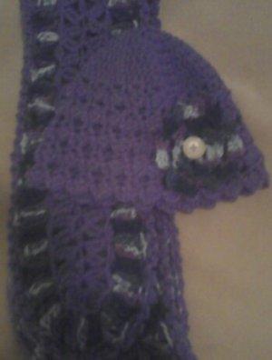 Purple & Purple Multi Adult Scarf Set- Special Order