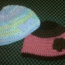 Children's Small Accent Crochet Winter Hats