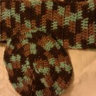 Brown Multicolor Scarf Set- Special Order