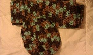 Brown Multicolor Scarf Set- Special Order