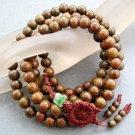 Tibet Buddhist 108 Green Sandalwood Beads Prayer Mala Necklace  10mm  ZZ002