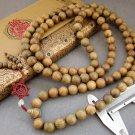 Tibet Buddhist 108 Green Sandalwood Beads Prayer Mala Necklace  15mm  ZZ001