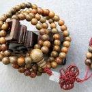 Tibet Buddhist 108 Green Sandalwood Beads Prayer Mala Necklace  6mm  ZZ006