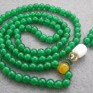 Tibet Buddhist 108 Malay Jade Beads Prayer Mala Necklace  6mm  ZZ018
