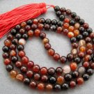 Tibet Buddhist 108 Dream Agate Gem Beads Prayer Mala Necklace  8mm  ZZ035