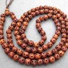 Tibet Buddhist 108 Wood Lu-Lu Tong Beads Prayer Mala Necklace 10mm  ZZ048