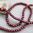 108 Purple Sandalwood FO Buddha Beads Buddhist Prayer Mala Necklace 6mm  ZZ054