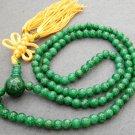 Tibetan Buddhist 108 Jade Beads Prayer Mala Necklace 6mm  ZZ059