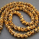 Tibet Buddhist 108 Ox Bone Skull Beads Prayer Mala Necklace  ZZ080