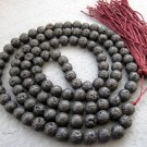 Tibet Buddhist 108 Valcano Stone Beads Prayer Mala Necklace 8mm  ZZ084