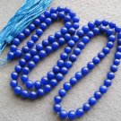 Tibet Buddhist 108 Lapis Stone Beads Prayer Mala Necklace 8mm  ZZ112