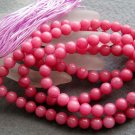 Tibet Buddhist 108 Red Jade Beads Prayer Mala Necklace 8mm  ZZ117
