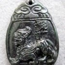 Black Green Jade Pi-Xiu Dragon Amulet Pendant  TH100