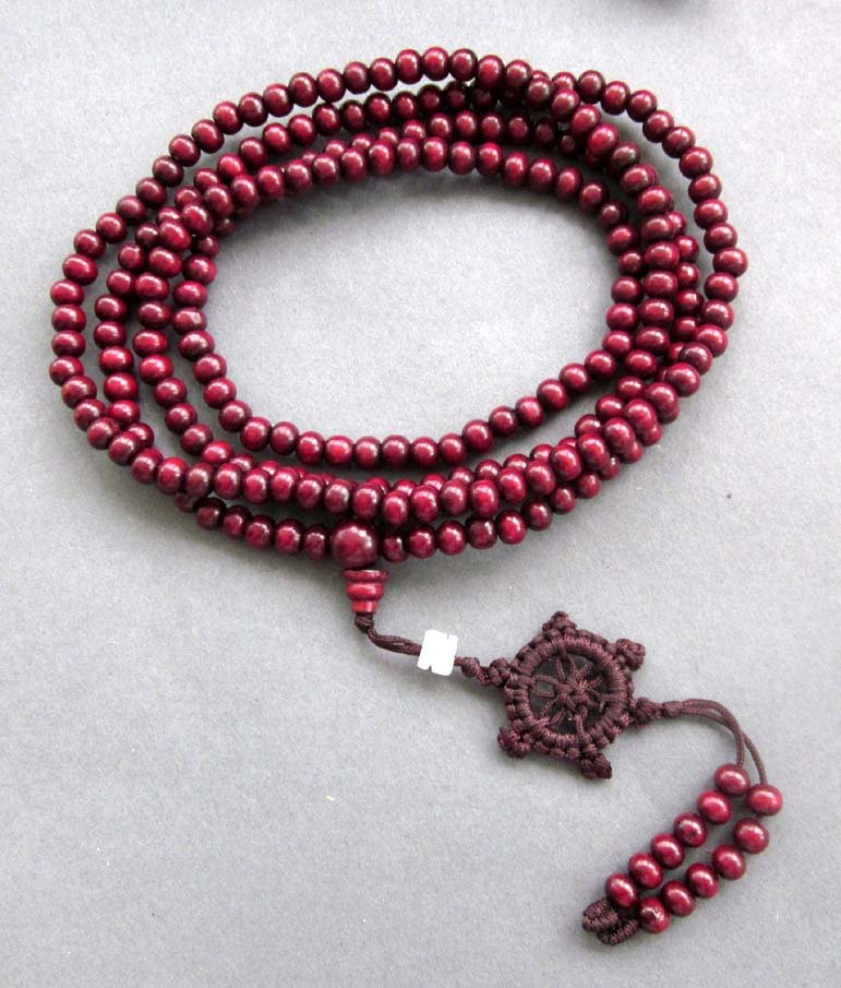 6mm 216 Purple Sandalwood Beads Tibet Buddhist Prayer Mala Bracelet Necklace  ZZ130