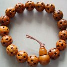 12mm Wood Lu-Lu Tong All The Way Open Bead Budhist Prayer Mala Bracelet  T0058
