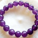 10mm Purple Violet Jade Beads Tibetan Meditation Prayer Yoga Bracelet  T0109