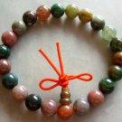 8mm Indian Agate Gem Beads Tibet Buddhist Prayer Bracelet Wrist Mala  T0489R