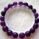 10mm Purple Jade Beads Tibetan Mediation Prayer Yoga Bracelet  T0598