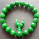 10mm Green Stone Beads Tibetan Meditation Prayer Yoga Bracelet Rosary Wrist  T0647