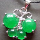 Green Jade Alloy Metal Butterfly Pendant 18mm*18mm  T0649