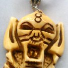 Ox Bone Carved Ghost Head Pendant Necklace 40mm*35mm  T0660