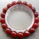 10mm Wine Red Jade Beads Prayer Meditation Wrist Mala Rosary Bracelet  T0662