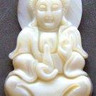 Sea Shell Tibet Buddhist Kwan-Yin Goddess Of Mercy Amulet Pendant 40mm*23mm  T0728