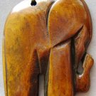Ox Bone Carved Elephant Pendant 35mm*32mm  T0738