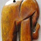 Ox Bone Carved Elephant Pendant 35mm*32mm  T0738