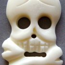 White Ox Bone Carved Skull Head Skeleton Pendant 43mm*23mm  T0740