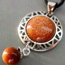 Goldstone Alloy Metal Pendant With Globe Shape Goldstone Pendant 26mm*17mm  T0773