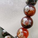 10mm Dream Agate FO(Buddha) Lotus Beads Buddhist Prayer Meditation Wrist Mala  T0820