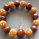 Rudarksha Bodhi Pu-Ti Beads Buddhist Prayer Japa Mala Bracelet  T0937