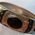 Tibetan Style Enamel Alloy Metal Bangle Bracelet  T1145