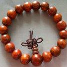 10mm Rosewood Beads Tibet Buddhist Prayer Meditation Mala Bracelet  T1213