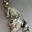Alloy Metal Chinese Zodiac Tiger Skull Pendant Necklace 55mm*22mm  T1303